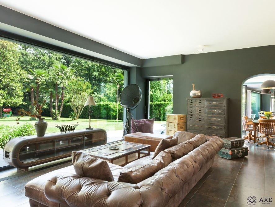 beautiful living room, classic furniture, interior